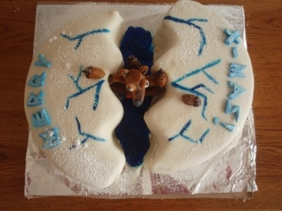 Ice Age cake with Scrat By hungirl on CakeCentral.com
