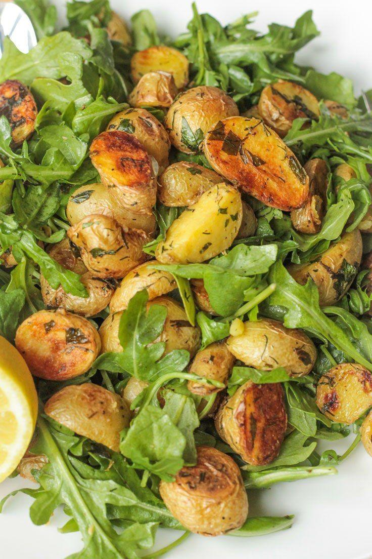 Herb Roasted Potato Arugula Salad