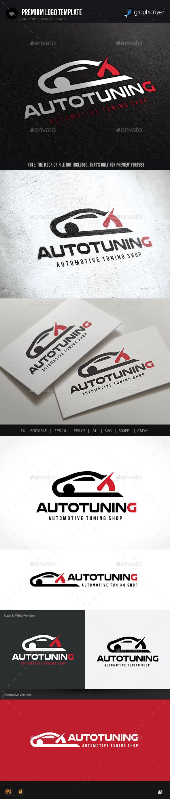 Auto Tuning — Vector EPS #brand #check mark • Available here → https://graphicriver.net/item/auto-tuning/10079198?ref=pxcr
