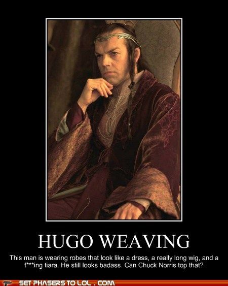 Hugo Weaving has one evil stare.