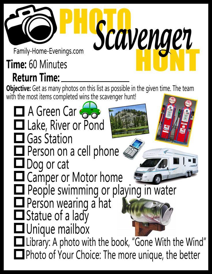 Photo scavenger hunt list copy
