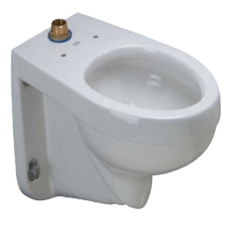 Zurn Elongated Wall Hung Toilet Bowl Only in White-Z5615-BWL - The Home Depot