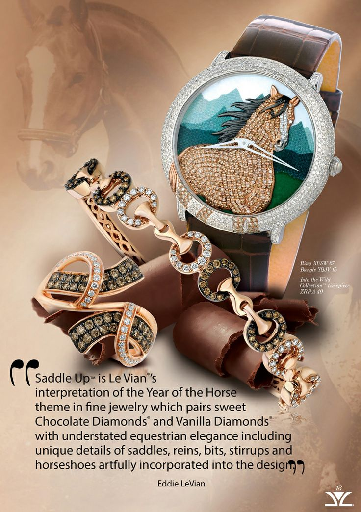 Le Vian Chocolatier™ Saddle Up™ ring and bracelet with ...