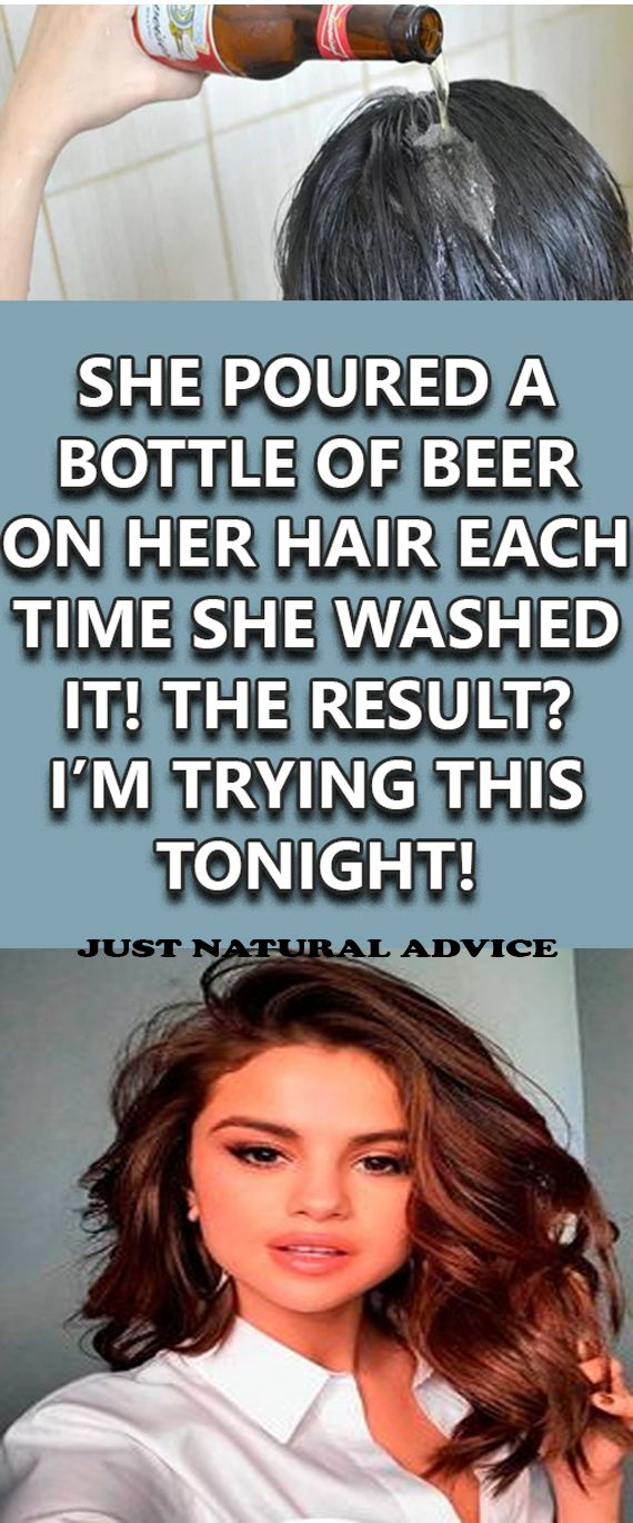 SHE POURED A BOTTLE OF BEER ON HER HAIR EACH TIME SHE WASHED IT! THE RESULT? IM TRYING THIS TONIGHT!