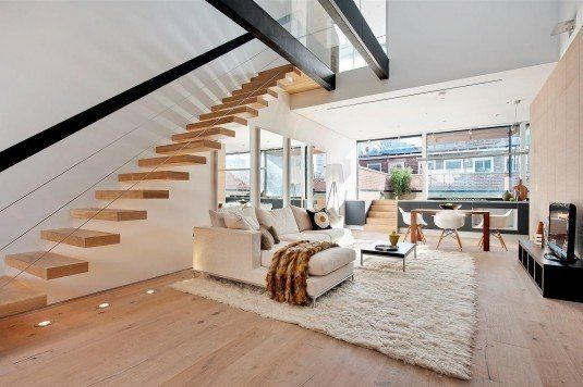 Gorgeous Floating Staircase Designs That You Have To See