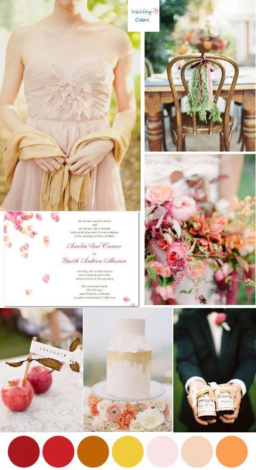 Blush Pink Fall Wedding Palette