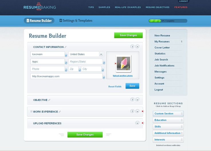 review of resumebaking on icecream tech digest httpicecreamappscomblog free online resume buildericecreamtechwebsite