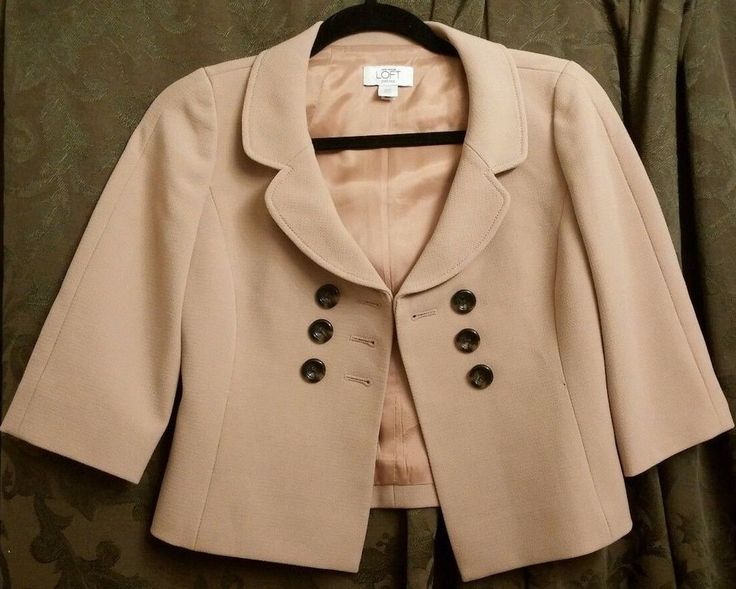 Ann Taylor Loft $26.55 petites 00p size 4 approximate read measurements #AnnTaylorLoft #Blazer
