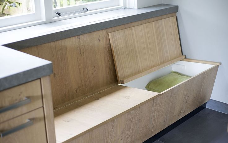 Keuken in Nijverdal #maatwerk #interieur #keuken #landelijk #bank #hout #kitchen #wood #bench