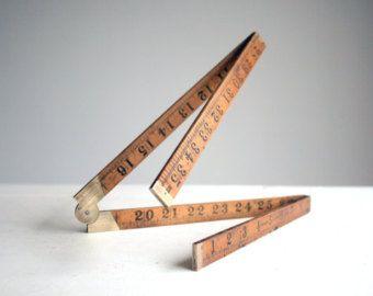 Boxwood Antique Folding Wooden Ruler Tool