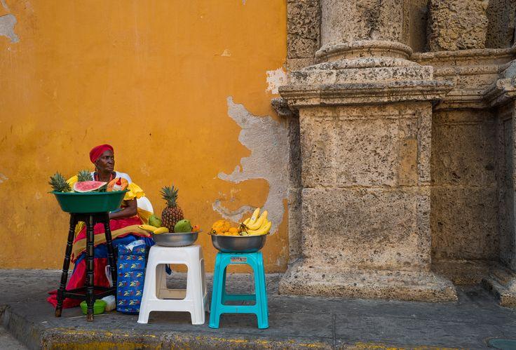 Angelita se llama esta vendedora de fruta. Me explicó como ha mejorado la ciudad en los últimos cuarenta años. Una biblioteca viviente.