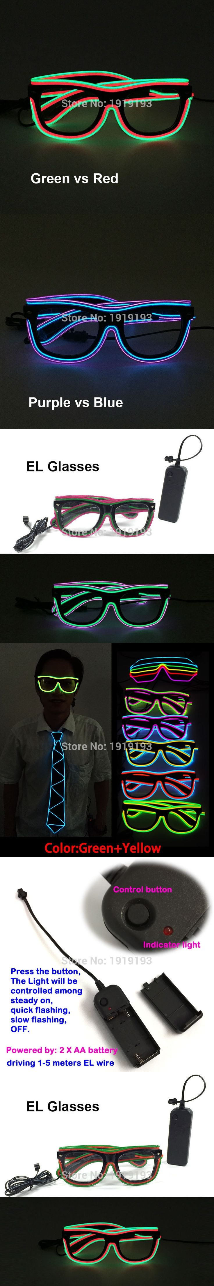 2017 New Arrival Birthday Decorative Led Strip Light Sunglasses Novelty Lighting Glowing EL wire Eyewear for Role Play Party,Bar