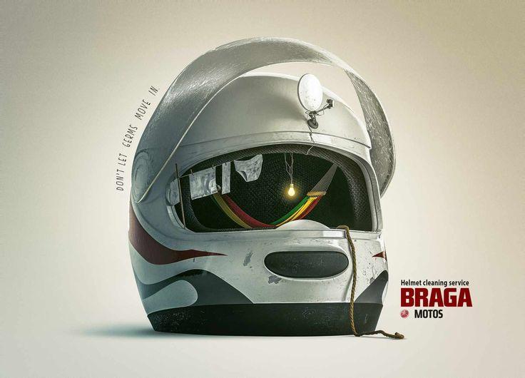 Braga Motos Yamaha: Helmet   Ads of the World™