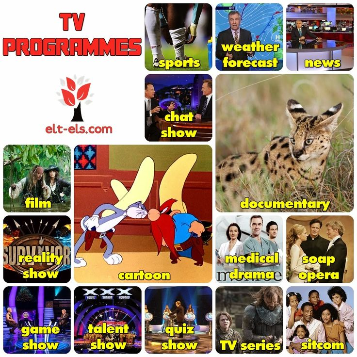 TV programmes | Free resources for English learners and teachers: