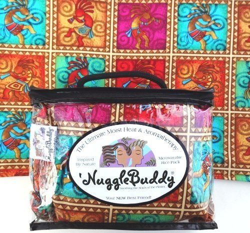 "'NUGGLEBUDDY Microwavable Moist Heat & Aromatherapy Organic Rice Pack. Whimsical Southwestern Fabric. SWEET LAVENDER Aromatherapy! by NuggleBuddy. $21.00. A 'NuggleBuddy is an appx. 10"" X 13"" Microwavable ""Pillow-Like"" Pack, Made From 100% Premium Cotton Fabric & Fully-Lined in Premium Muslin. Each 'NuggleBuddy is Filled with 40 Ounces of Organically Grown Grains, Herbs & Botanicals. This Mixture has been Carefully Infused with All-Natural Fragrances and 100% Pure E..."