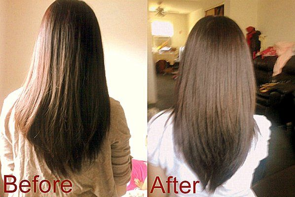 Layered V Cut Hair in the front | cut layers but not choppy or thin