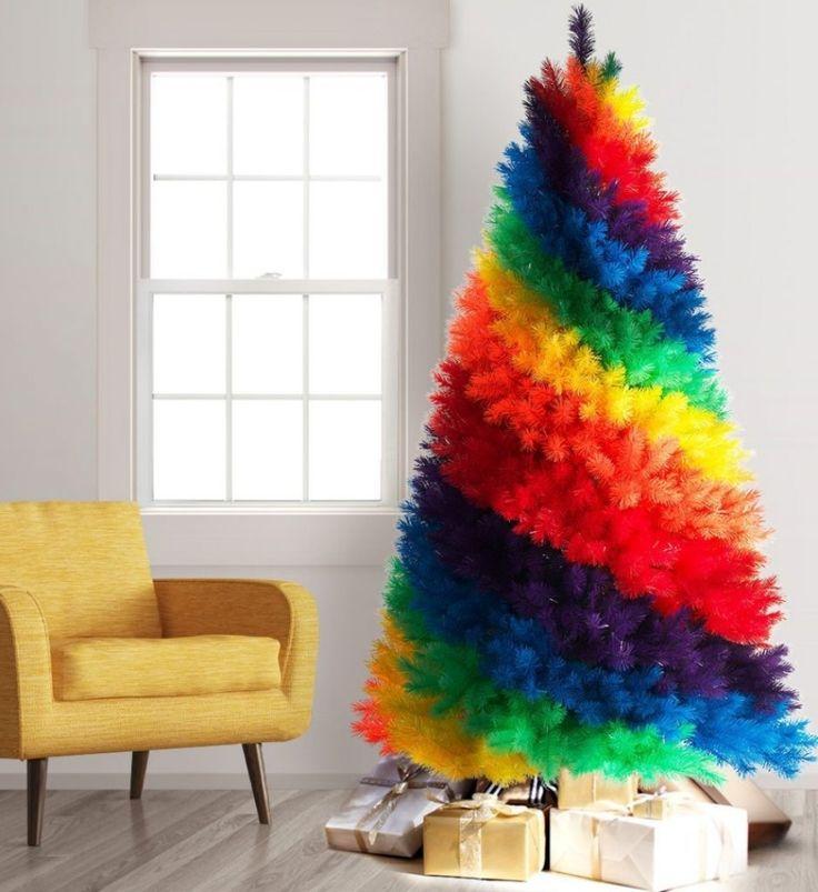 Color Burst Rainbow Artificial Christmas Tree