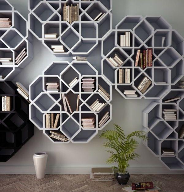 étagère murale design, formes jolies géométriques