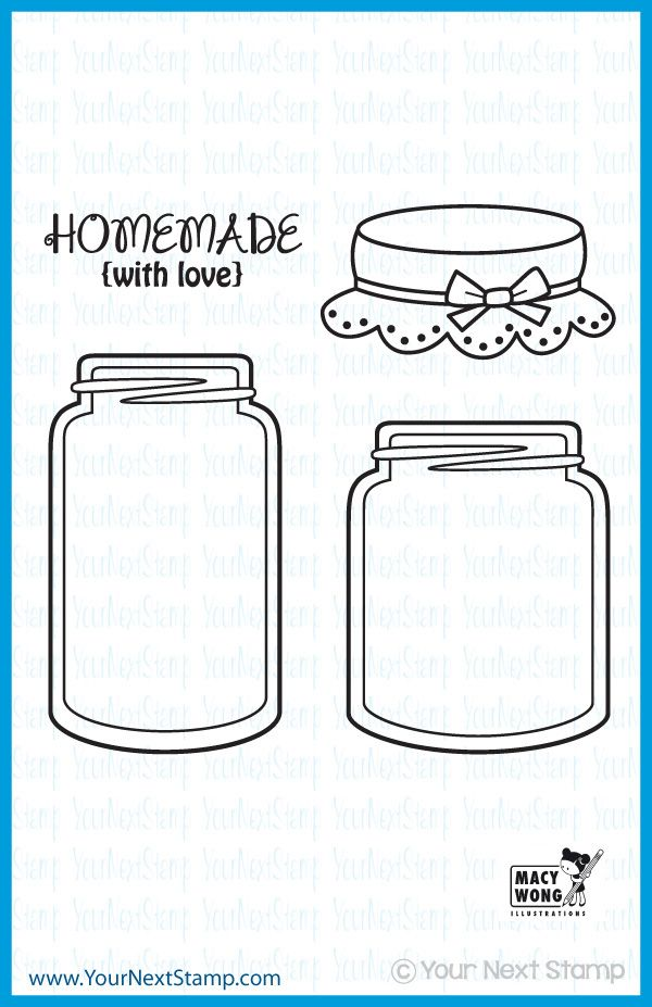 Mason Jars (clear set) [CYNS127] - USD 9.95 : Your Next Stamp
