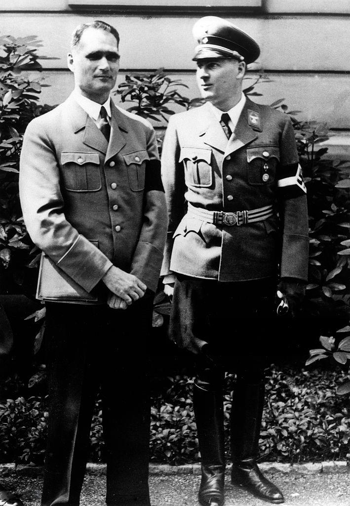 Rudolf Hess and Baldur von Schirach, 1939.