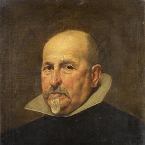 Portrait of painter Diego Rodríguez de Silva y Velázquez (Seville 1599-1660 Madrid), Portrait of a gentleman by Matthew Shepperson (1787-1874)