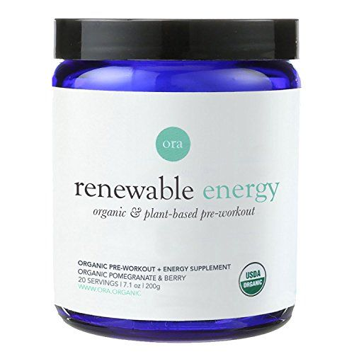 Ora Organic Pre-Workout Supplement - Sustained Energy & Nitric Oxide Booster with Adaptogens, Organic Pomegranate & Berry, Vegan, 20 servings - 200g Powder  CERTIFIED USDA ORGANIC & vegan pre-workout powder.  ORGANICALLY DELICIOUS: ORGANIC POMEGRANATE & BERRY FLAVOR, no added sugar or artificial flavors (we wouldn't do that to you)!  80 MG OF CAFFEINE FROM ORGANIC GREEN COFFEE BEAN and formulated with yerba mate, matcha tea, eleuthero root and ginseng to give a jitter-free energy boost...