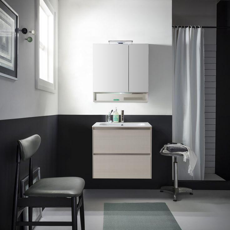 Bianca 70cm er en av Norfloor sine lagerførte baderomsmøbler. Varm design!