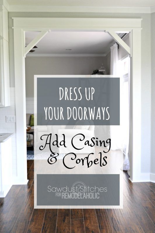 Adding Casings And Corbels To A Doorframe | Upgrade from builder basic by installing a DIY craftsman door casing with easy DIY corbels.