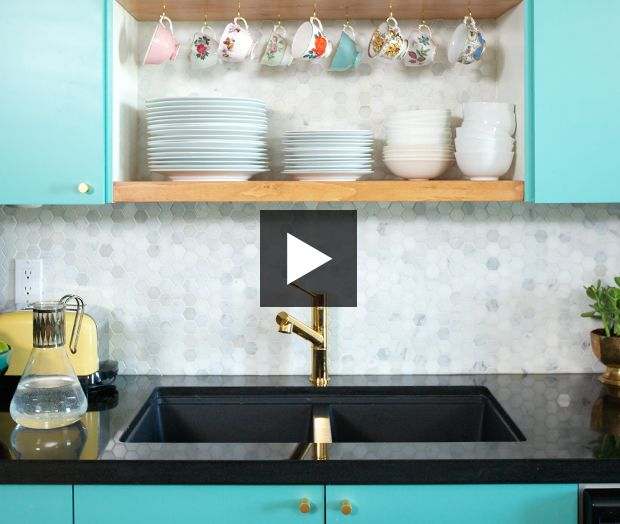 See how blogger Melissa DiRenzo of The Sweet Escape woke up her ho-hum condo kitchen — on a budget!