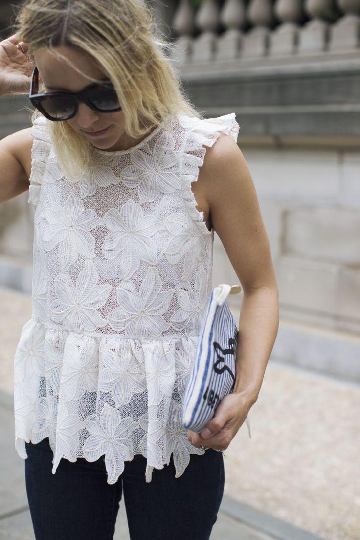 Image Via: Damsel In Dior in the Adoria Ruffled Top #Anthropologie