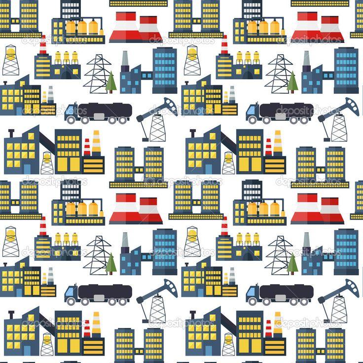 Moderne industriële naadloze patroon achtergrond — Ilustración de stock #49029761