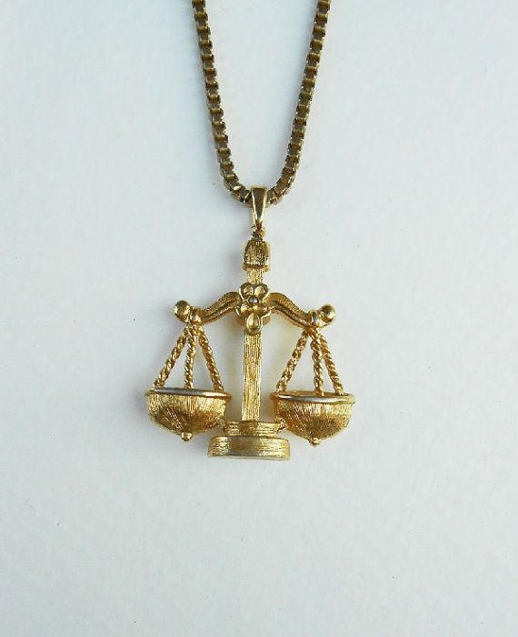 Monet signed Golden Scale Necklace by LoupBelle on Etsy, $16.00