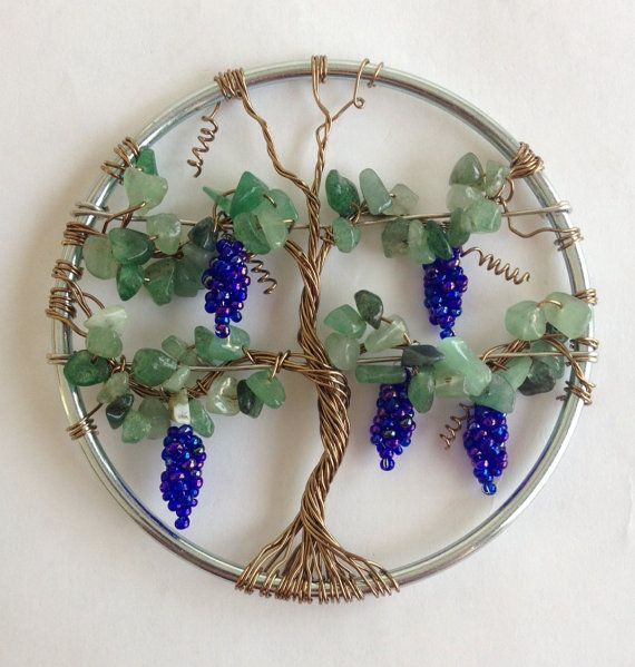 Hey, I found this really awesome Etsy listing at https://www.etsy.com/listing/214974172/grape-vine-suncatcher-decoration-unique