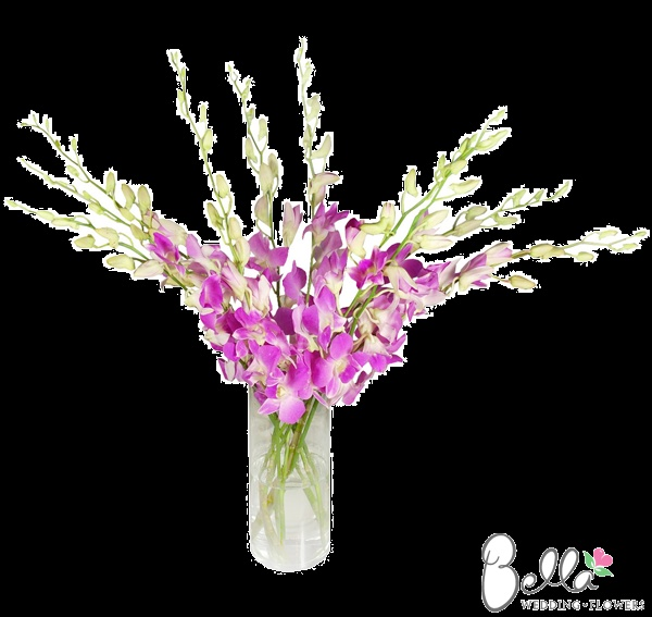 Gorgeous pink white dendrobium orchids are exotic and beautiful. Lush light pink and white dendrobium orchids added to wedding bouquets, boutonnieres and centerpieces are the perfect recipe for romance on your wedding day. Use dendrobium orchids by themselves for luscious wedding bouquets or add as an accent flower to arrangements and boutonnieres. As always, our pink white dendrobium orchids are shipped directly from the grower. Take advantage of our Free Shipping. $169