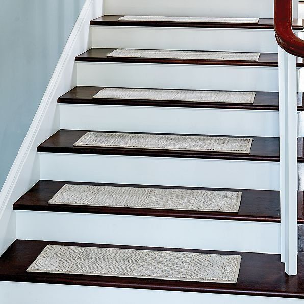 Give Your Stairs Protection And Style With The Set Of 4 Nomad Geo Low  Profile Rug