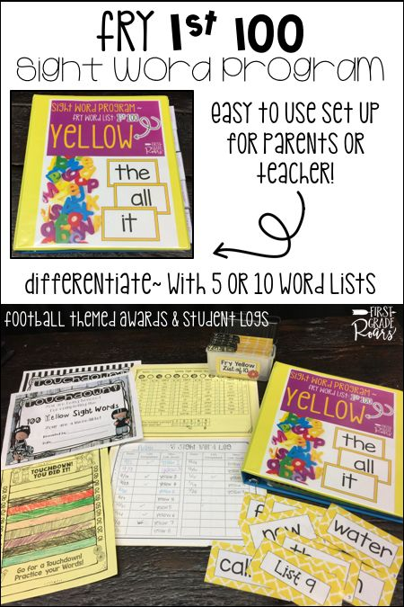 This set of Fry sight word covers the first 100 words. This is the perfect assessment tool for a kindergarten or first grade classroom. Each 100 words comes with two list options for 5 words or 10 words. There are word cards for each option, recording sheets, and binder suggestions for storing. Each 100 comes with a different sports themed goal, award, and recording sheet. This is perfect for teachers or parents to run in a volunteer program.