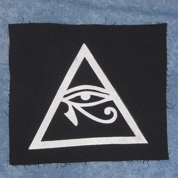 Illuminati Symbol Eye of Horus in Triangle Patch by phoenixcompost, $5.00