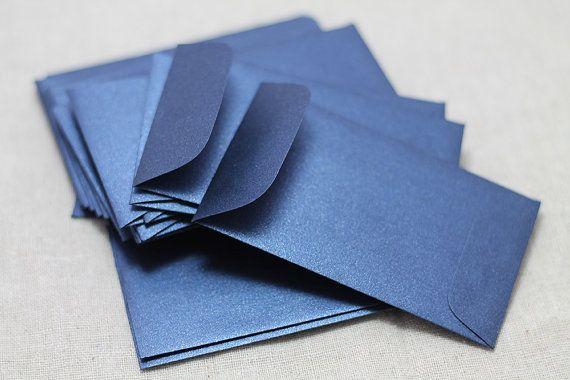 Hey, I found this really awesome Etsy listing at https://www.etsy.com/listing/162701658/25-mini-metallic-navy-blue-envelopes