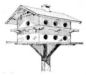 Free Bird House Plans | Purple Martin House Plans » Woodwork City Free Woodworking Plans