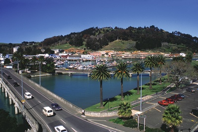 Looking towards Gisborne Wharf area