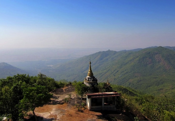 View from Mount Zwegabin, Burma