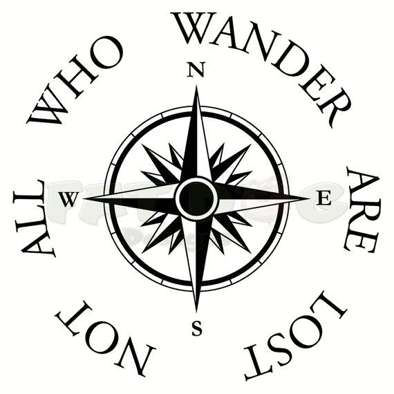 Not All Who Wander Are Lost Removable Vinyl Decal Adventure – Tattoo