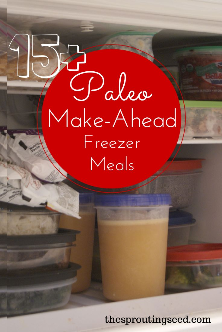 Paleo Make Ahead Freezer Meals Recipes - The Sprouting Seed