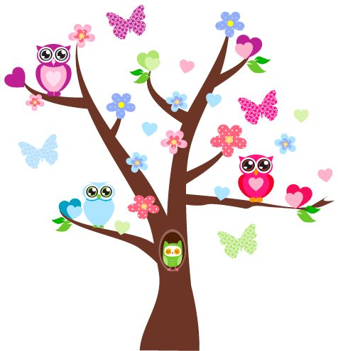 smartwalling, MOVABLE wall decals - Tree and Owl Wall Decal, $39.95 (http://www.wholesaleprinters.com.au/tree-and-owl-wall-decal)