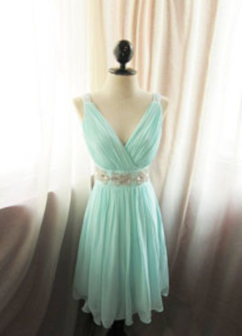Teal blue short dress