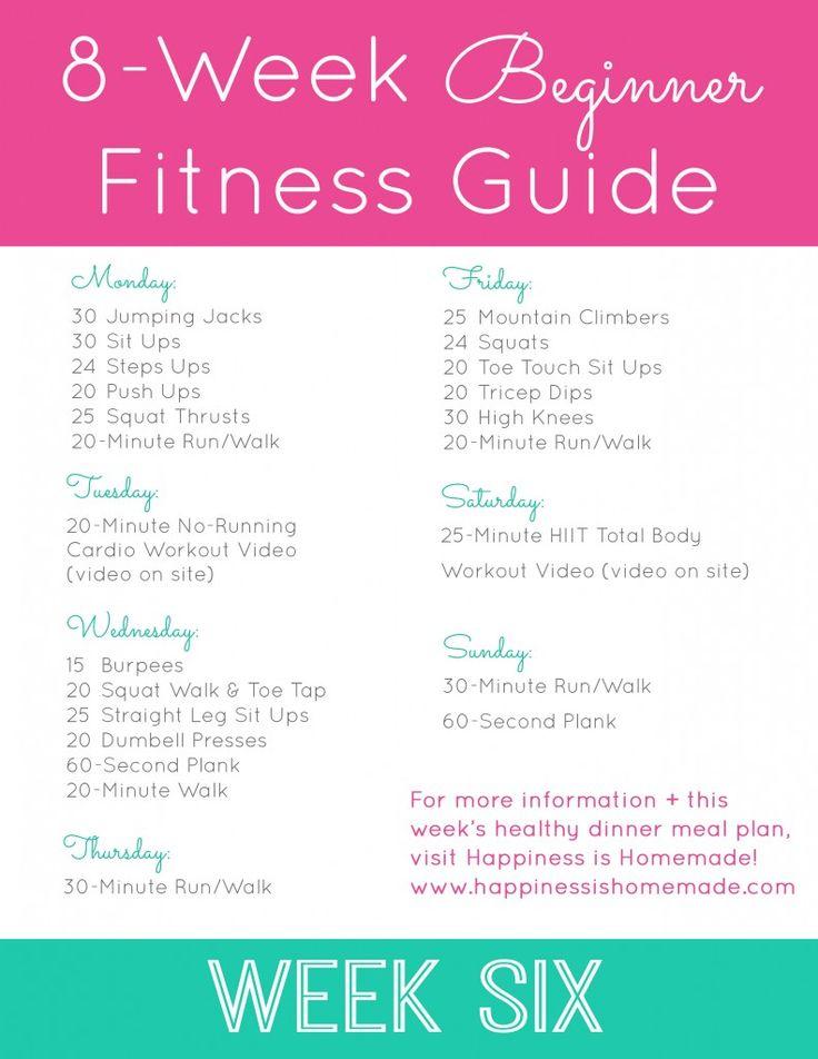 Beginner Fitness Jumpstart: Week 6 - Happiness is Homemade
