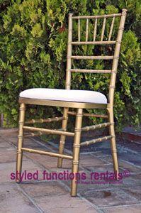 Gold Tiffany Chair Hire - R22.50