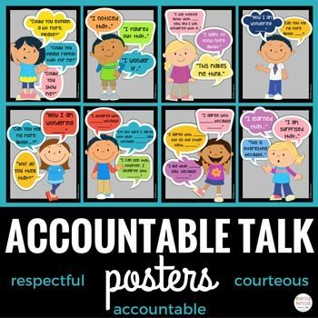 Accountable Talk Posters - help young students communicate effectively and respectfully!