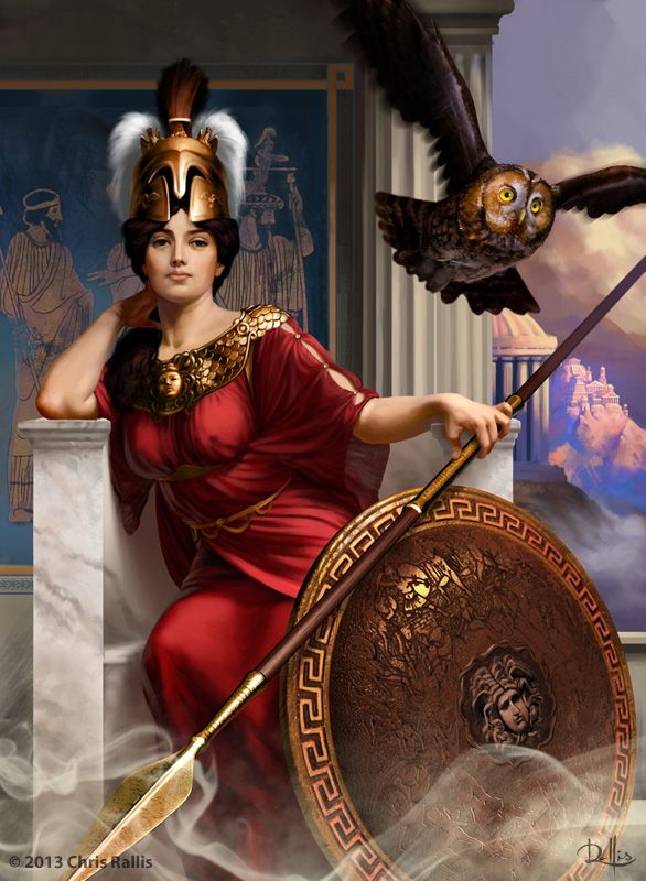 Goddess Athena by ChrisRa.deviantart.com on @deviantART
