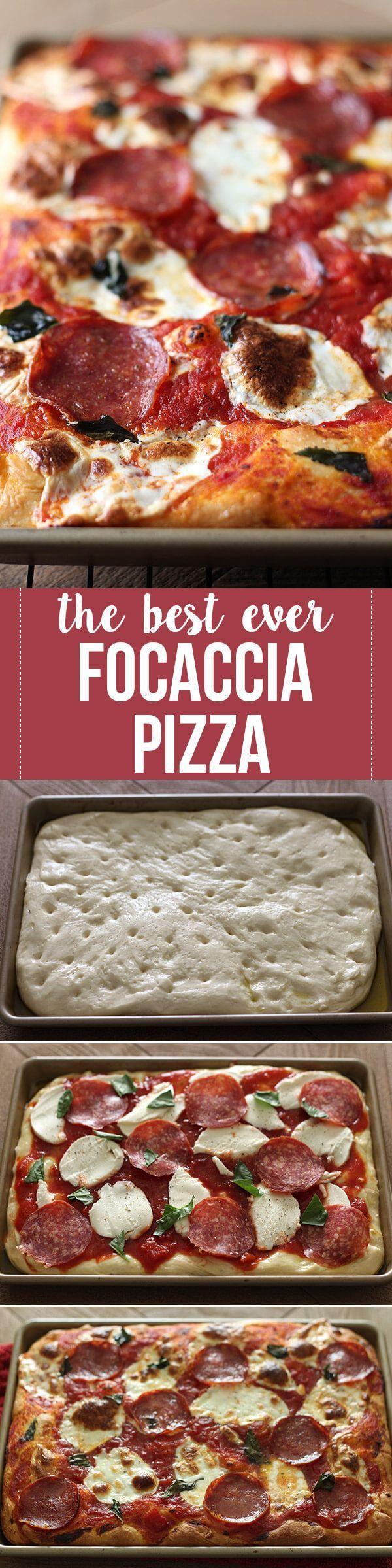BEST EVER Focaccia Pizza!                                                                                                                                                                                 More